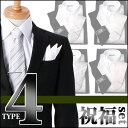 [結婚式 ゲスト メンズセット] 形態安定 ワイシャツ セット 小物 フォーマル ネクタイ タイピン