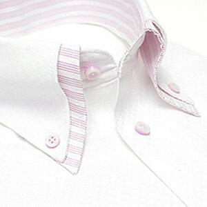 デザイン ワイシャツ ビジネス ホワイト ストライプ