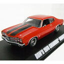 FAST & FURIOUS DOM'S 1970 CHEVROLET CHEVELLE SS Red 1/43 GREENLIGHT 3612円【 ワイルドス...