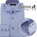 ショッピング安 カディーニ CADINI メンズシャツ GEORGE2BBD 223 5 ブルー系 メンズ ビジネス Yシャツ ワイシャツ カッターシャツ 長袖【キャッシュレス 5% 還元】 OLS-4