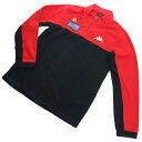 【Special Price】 カッパ KAPPA GOLF メンズ-ロングTシャツ KG952LS48 ハーフジッププルオーバ BK ブラック レッド系 golf-01