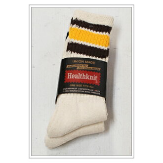 HealthKnit 3Pack laughed three ラインクルー socks