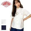 ショッピングダントン DANTON【ダントン】コットンポプリン 丸襟 ワークシャツ Lady's【JD-3784 MSA】