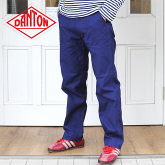 DANTON cotton canvas ジップワーク pants 20 Sierra