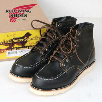 "RED WING Irish Setter Classic Work / 6 ""Black Moc-Toe""Klondike""(9874)"
