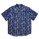【セール/SALE-30】LEFLAH(レフラー) デニムノーカラーシャツ (NAVY) 半袖