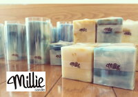 【milliecandles】ミリキャンドルcube/turquoise&blue&yellow&gold