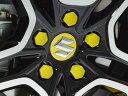 欧州スズキ 純正 スイフト スポーツ ZC33S ホイール センターキャップ ナットキャップ 1台分 イエロー ボルトカバー