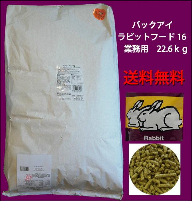 【送料無料】 バックアイ ラビットフード16 (22.7kg) 業務用