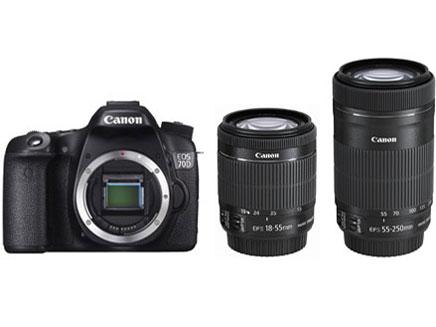 ☆CANON キヤノン EOS 70D ダブルズームキット デジタル一眼レフカメラ キャノン イオスシリーズ 無線LAN機能内蔵モデル EOS70DWZK デジカメ