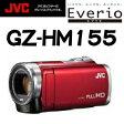 JVC Everio ビデオカメラ Wスロット 251万画素 3.0型 フルフラット タッチパネル 液晶 GZ-HM155 レッド