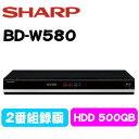 ★SHARP BD-W580ブラック系 シャープ Aquos ブルーレイレコーダー 500GB HDD ダブルチューナー アクオス BDW580