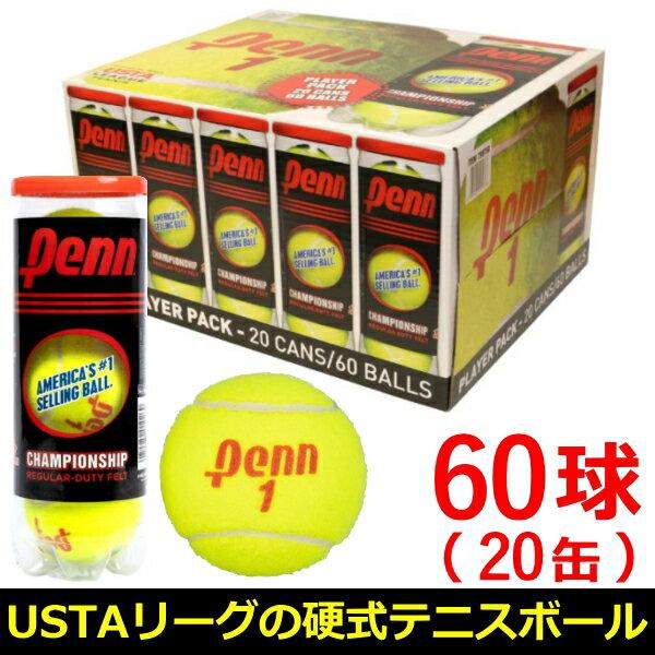 PennペンチャンピオンシップレギュラーデューティーUSTAリーグ硬式テニスボール3個入り×20缶6