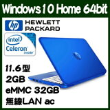 HP Stream 11-r016TU Windows10 64bit��eMMC����ܤ���11.6���վ���Х���Ρ��ȥѥ����� T0Y45PA-AAAA