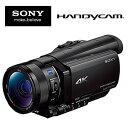 ★FDR-AX100 ブラック SONY ソニー デジタル4Kビデオカメラレコーダー handycam ハンディカム フルハイビジョンビデオカメラ FDR-AX100