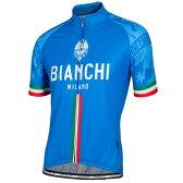 送料無料 ビアンキ(BIANCHI) 男性用ウェア 半袖サイクルジャージ SADO BLUE Mサイズ