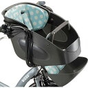 送料無料 ブリヂストン bikke POLAR用 フロントチャイルドシートクッション FBP-K B-W ドットブルー