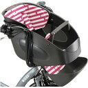 【送料無料】 ブリヂストン(BRIDGESTONE) bikke POLAR用 フロントチャイルドシートクッション FBP-K P-W ボーダーピンク