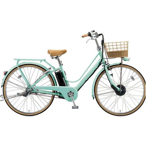 ブリヂストン カジュナ cajuna e スィートライン CS6B37 E.Xミストグリーン 電動自転車 電動アシスト自転車 【2017年モデル】【完全組立済自転車】