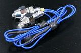 螺栓型LED灯的数量,可以装扮你的车免费的!蓝色LED引脚)2型12V或者24V的共享设置[ナンバーボルトタイプのLEDランプ! LEDピン青) 2個セット12V/24V共用タイプ]