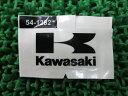 新品 カワサキ 純正 バイク 部品 KX85-II ナンバープレートマークデカール 56054-1282 在庫有 即納 車検 Genuine KX250F KX100 KX450F