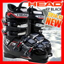 冬季運動 - ヘッド スキーブーツ HEAD XP ブラック メンズ 25.0/26.0/27.0/28.0/29.0【RCP】【メール便不可・宅配便配送】