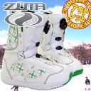 スノーボード ホワイト グリーン レディース