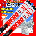 ROSSIGNOL (ロシニョール) スキー4点セット キッズ ジュニアスキー HERO J ジュニア 100/110/120/130/140/150 XELI...