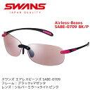 スワンズ スポーツサングラス SWANS サングラス エアレスビーンズ SABE-0709 BK/P メンズ レディース 人気 ミラーレンズ ランニング ア…