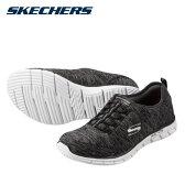 [スケッチャーズ] SKECHERS 22708 レディース | スリッポン ウォーキングシューズ | Glider-Electricity クッション性 | ゴム紐 軽量 | 大きいサイズ対応 24.5cm | ブラック