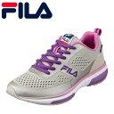 フィラ FILA FC-2206W レディース靴 3E相当 スポーツシューズ ランニングシューズ VincitoreW 反射材 光る グレー×パープル SP