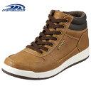 パイプライン PIPELINE スニーカー PL-4011M メンズ 靴 靴 シューズ 2E相当 ハイカットスニーカー 防水 防滑 ブーツ ミッドカット サイドジップ 大きいサイズ対応 28.0cm キャメル TSRC