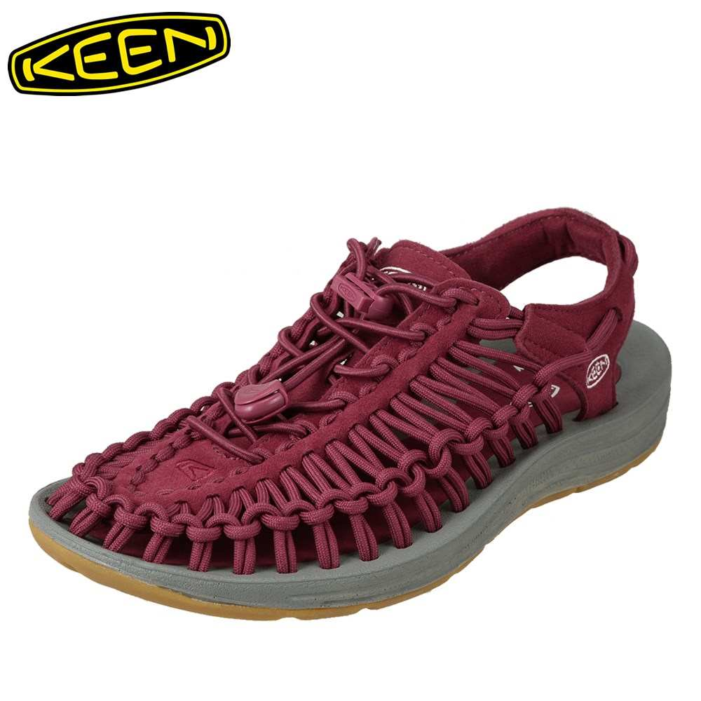 [全品ポイント5倍]キーン KEEN サンダル 1017046 レディース靴 靴 シューズ 2E相当 スポーツサンダル アウトドア キャンプ レジャー ユニーク 大きいサイズ対応 25.0cm ワイン TSRC