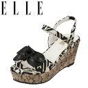 ショッピングウエッジソール エル ELLE サンダル EPC6324 レディース靴 靴 シューズ 2E相当 ウェッジソールサンダル 厚底サンダル アンクルベルト 美脚 クッション性 カジュアル 小さいサイズ対応 22.5cm ブラックテクスチャー TSRC