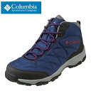 コロンビア columbia スニーカー YU0241 メンズ靴 靴 シューズ 2E相当 アウトドアシューズ ハイカットスニーカー オムニテック 防水 透湿 軽登山 キャンプ アウトドア 行楽 旅行 大きいサイズ対応 28.0cm ネイビー TSRC