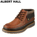 アルバートホール ALBERTHALL ブーツ 3810 メンズ靴 靴 シューズ ショートブーツ ハイカット レースアップ アンティーク アメカジ ストリート おしゃれ 人気 ブランド ブラウン TSRC