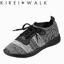 ショッピング大きい キレイ・ウォーク Bio Fitter BFK-008 レディース靴 3E相当 カジュアルシューズ シューレースタイプ ニット素材 大きいサイズ対応 24.5cm ブラック TSRC