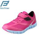 バイオフィッター スポーツ Bio Fitter BF-368 キッズ靴 3E相当 キッズ ジュニアシューズ 防水 ウォータープルーフ 軽量 反射板 安全 ピンク×サックス TSRC