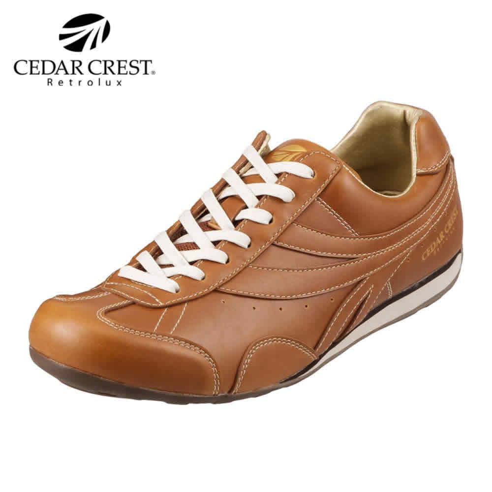 [セダークレスト] CEDAR CREST CC-9510 メンズ | カジュアルスニーカー レトロスニーカー | ローカット レースアップ | クッション性 消臭 抗菌 | 大きいサイズ対応 28.0cm | キャメル TSRC