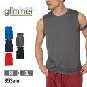 速乾 ドライ メンズ 【Glimmer(グリマー) | 3.5オンス インターロックドライノースリ