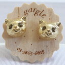 [cat accessories] .gargle/ ガーグル eyes are cat face pierced earrings gold shiningly