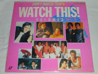(LD:レーザーディスク)DON'T WATCH THAT WATCH THIS! VOLUME3【中古】