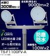 ◆エルランテ LED屋外用照明器具 投光器ポール取付けタイプ 2灯100Wタイプ(水銀灯300W形相当)×2TS-F1100FV-A 2個+2灯用ポール取付架台