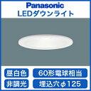 パナソニック Panasonic 照明器具LEDダウンライト 埋込125 高気密SB形60形電球1灯相当 拡散マイルド配光 昼白色 非調光LSEB5120LE1