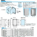 日東工業 プラボックスコントロールボックスPCH形プラボックス 屋内用 着色扉付PCH16-43