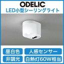 オーデリック 照明器具お・ま・かセンサLED小型シーリングライト 昼白色 白熱灯60W相当ダブルセンサ付トイレットライト 人感センサOL251177ND