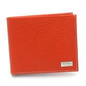 【送料無料】 【セール】【即発送可能】フェラガモ/Salvatore Ferragamo 二つ折りメンズ財布 66-7068 ARANCIATA オレンジ