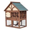 米国支局取り寄せ品超豪華・屋外用うさぎ小屋・一軒家・2階建てお屋敷モデル