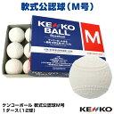 【あす楽対応】軟式公認球 ケンコーボール M号 1ダース(12球) 試合球・検定球 一般用・中学生用 16JBR11100 NAK-M 野球用品