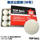 【あす楽対応】軟式公認球 トップボール M号 1ダース(12球) 試合球・検定球 一般用・中学生用 16JBR11300 KBH-TOPM 野球用品